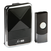 Knightsbridge DC001 Wirls Door Chime 200m Black IP44