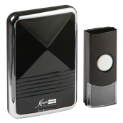 Knightsbridge DC002 Wirls Door Chime 80m Black IP44