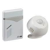 Knightsbridge DC006 Wireless Door Chime 100m White 100 Mtr Range IP44