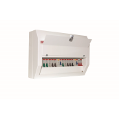 Contactum DDS06166MSP01 Defender 6 Way High Integrity Split Load Populated Consumer Unit