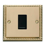 Click GCBR011BK Plateswitch 1 Gang 2 Way 10 Amp Cast Brass