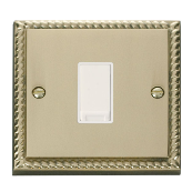 Click GCBR011WH Plateswitch 1 Gang 2 Way 10 Amp Cast Brass