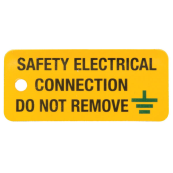 Ind Signs IS0605RP Safety Electrical Connection Pk=5