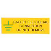 Ind Signs IS0610SA Safety Electrical Conn Label