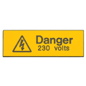 Industrial Signs IS1105EN Danger 230V Label Pk=5