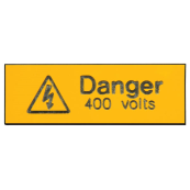 Ind Signs IS1205EN Danger 400V Label Pk =5