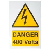 Ind Signs IS5101RP Danger 400V Label