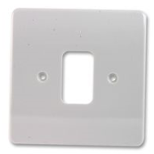 MK K3631WHI Frontplate 1 Module White Single Plate Moulded Plastic