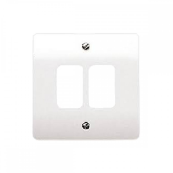 MK K3632WHI Frontplate 2 Module White 1 Gang White Moulded Plastic