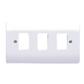 MK K3633WHI Frontplate 3 Module White Double Plate Moulded Plastic