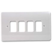 MK K3634WHI Frontplate 4 Module White Double Plate Moulded Plastic
