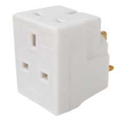 13AMP 3WAY PLUG IN FUSED ADAPTOR