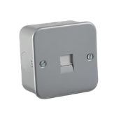 K/Bridge M7400 Tel Socket Extn Met/Cld