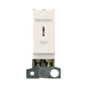 Click MD029PW Switch Emergency Test Module 13A Double Pole White