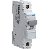 Hager NBN106 6 Amp Single Pole Mcb 10Ka Rated Type B For Single Phase & Three Phase Boards 6A