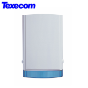 TEXECOM 1E BELL BOX WHITE/BLUE FCA-0001