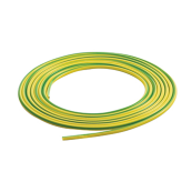 PVC4GY-P5 4MM GREEN & YELLOW SLEEVE 5 METRE PACK