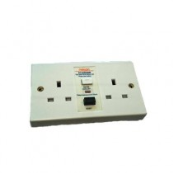 S132RCDW WHITE RCD TWIN SOCKET