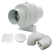 Manrose SCF200T Centrifugal Fan Kit 100mm 4inch