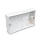 UniVolt SFB2 Box 2 Gang Sq Corners White