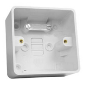 UniVolt SFR1 Box 1 Gang Rad Corners White