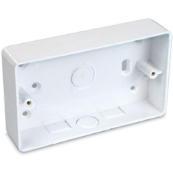 UniVolt SFR2 Box 2 Gang Rad Corners White