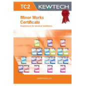 Kewtech TC2 Minor Works Certificate Pad A4x40 Sheets