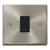 Click Deco VPSC011BK Plateswitch 1 Gang 2 Way 10 Amp Satin Chrome