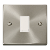 Click Deco VPSC011WH Plateswitch 1 Gang 2 Way 10 Amp Satin Chrome