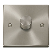 Click Deco VPSC140 1G Dimmer Switch 400W Satin Chrome