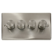 Click Deco VPSC154 4G Dimmer Switch 4x400W Satin Chrome